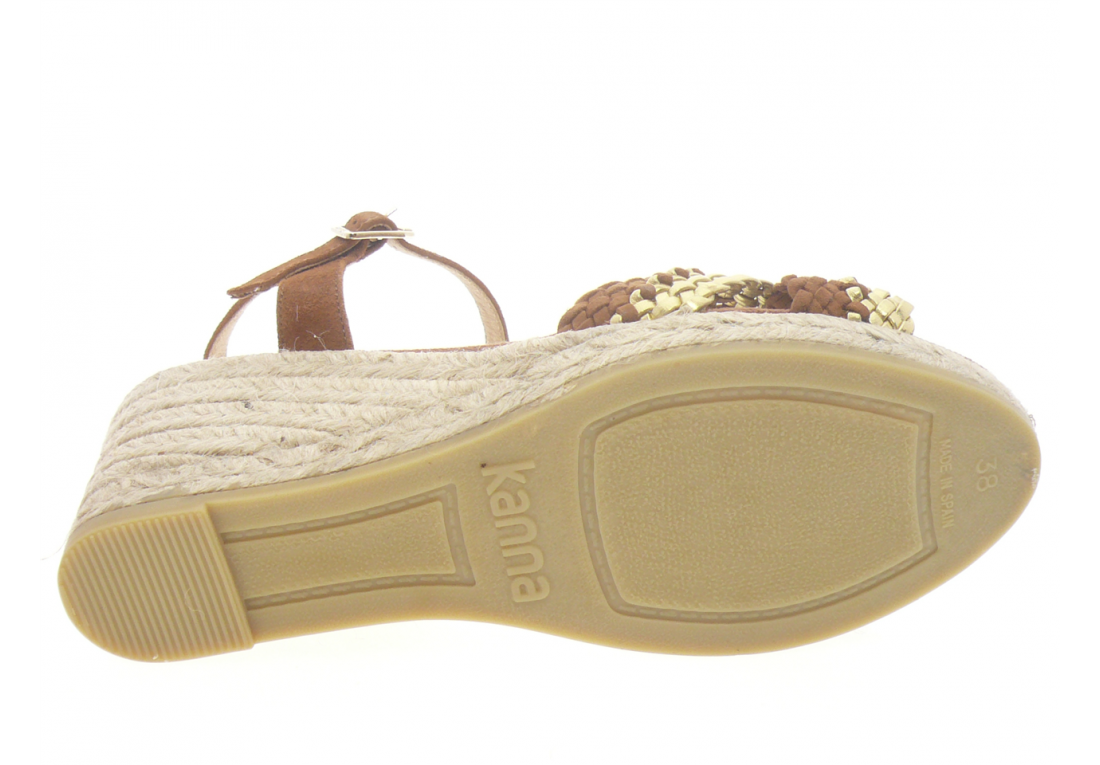 Kanna - Espadrilles 20054. - MARRON OR