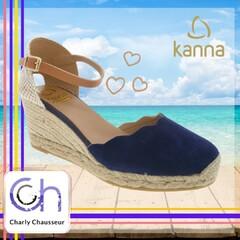 On adore l'été chez Charly, oui on adore !!  Nous avons un grand nombre de chaussures à cordes, voici par exemple ce modèle de la marque espagnole Kanna !!  Ici https://www.charlychaussures.com/ et en boutique.   #kanna #summer #love