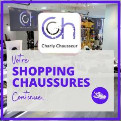 """Pendant tout le mois d'avril, continuez votre shopping chaussures avec Charly 😀  Vous avez craqué sur une paire ? 😍  2 choix s'offrent à vous :   🟩 Commandez en ligne sur https://www.charlychaussures.com/ ou ici, via le bouton """"voir la boutique"""" & recevez votre commande, directement chez vous !! 😉  🟪Envoyez-nous un message ici 💬 et venez récupérer votre commande en boutique sur rendez-vous, dans le respect des règles et des gestes barrières. 😊  #onestlàpourvous #votreshoppingchaussurescontinue #charly #Béziers #chaussures #confinement"""