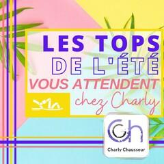 Pour un été au top, c'est forcément chez Charly qu'il vous faut aller, retrouvez les Tops de la saison.  Toute l'équipe vous attend en boutique au 22-24 rue Française à Béziers et sur shttps://www.charlychaussures.com/  A très vite 😊  #top #été #summer #chic #charly